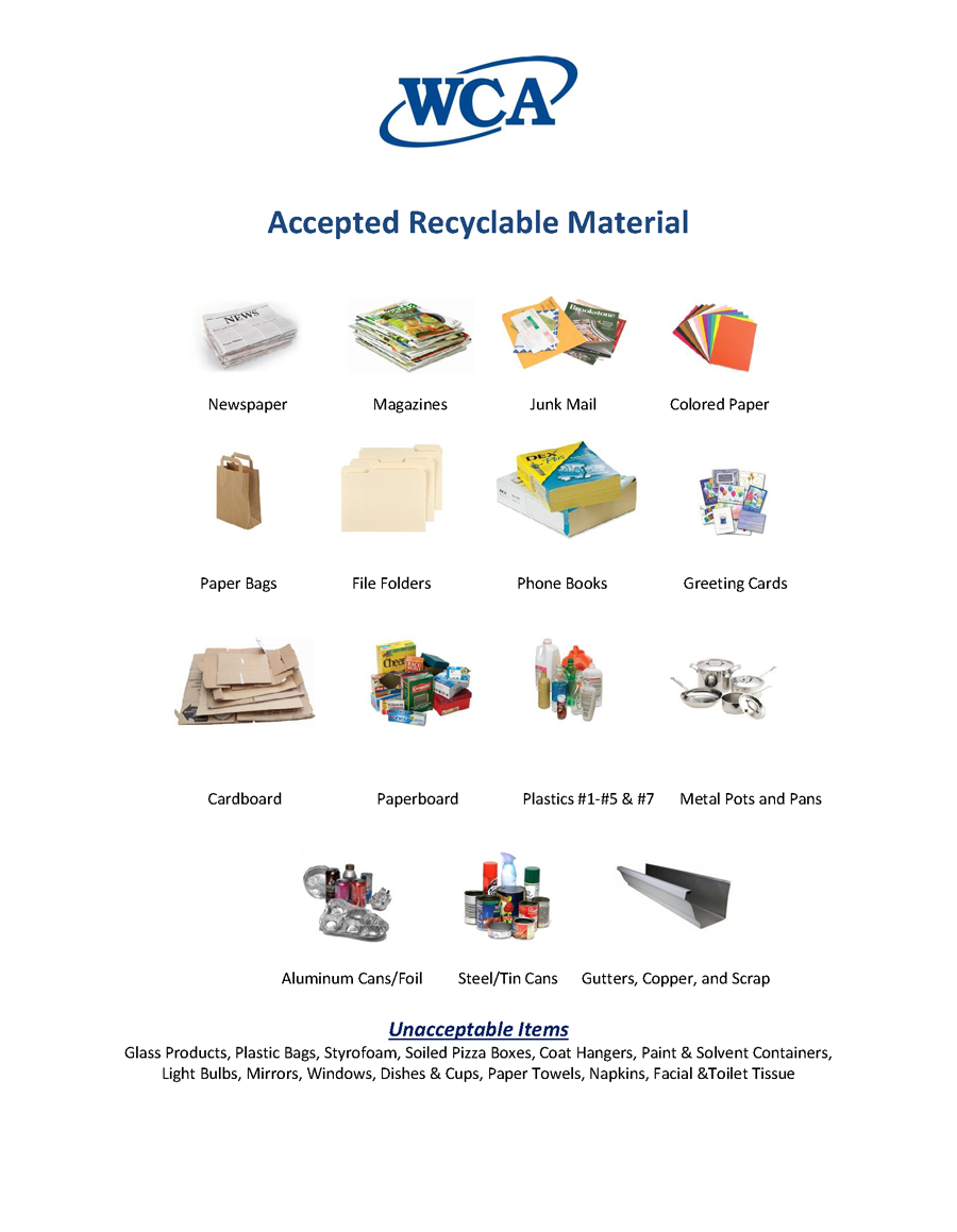 recycled product list